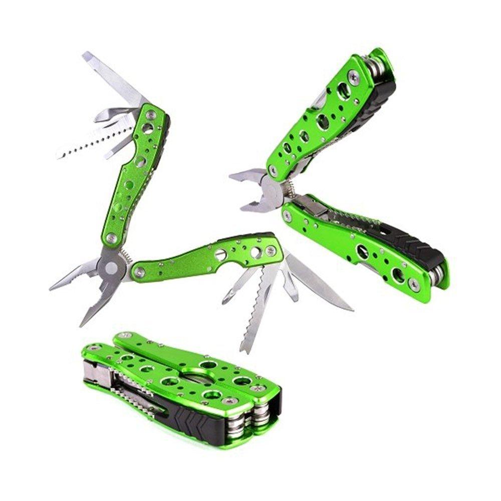 Likorlove 9in1multi-tool pinza combinato?Tasca pieghevole multifunzionale pinze (pinza a becchi piatti, apribottiglie, cacciavite, Scaling coltelli/Motion righello, coltello, cacciavite, apriscatole, sega da falegname, e coltello affilato