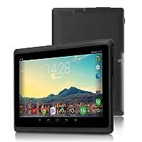iRULU Tablet de 7 Pulgadas Google Android 6.0 Quad Core 1024x600 Cámara Dual Wi-Fi Bluetooth 1GB/8GB Play Store Netfilix Skype Juego 3D Compatible con Gms Certified con Garantía de un Año (Negro)