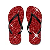 CafePress Ruby Red Slippers and Wand - Flip Flops, Funny Thong Sandals, Beach Sandals