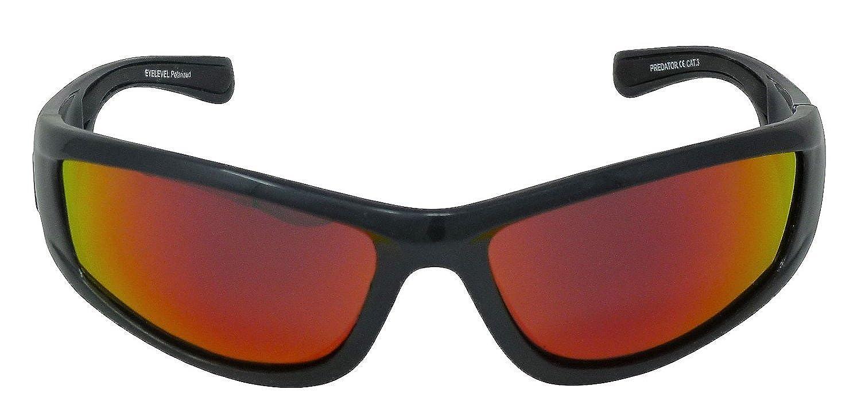 Predator Sonnenbrille, polarisiert, Rot verspiegelt, Cat 3, UV400