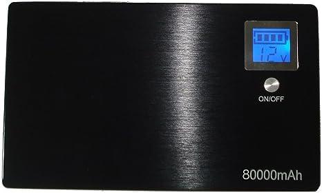 Premium® Gran Capacidad 80000 mAh profesional Batería externa para portátil y dispositivos móviles cargador portátil