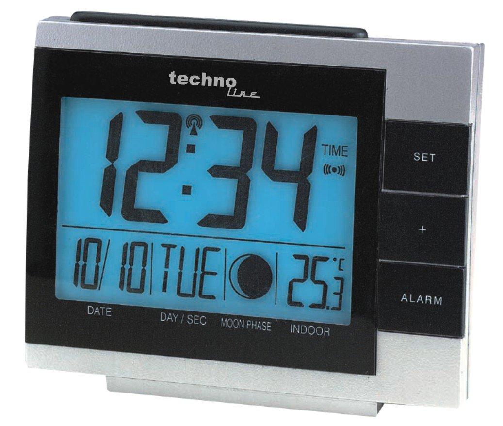 Technoline WS 8055 Radio-Despertador, Plata y Negro, 11.8x5x10 cm: Amazon.es: Hogar