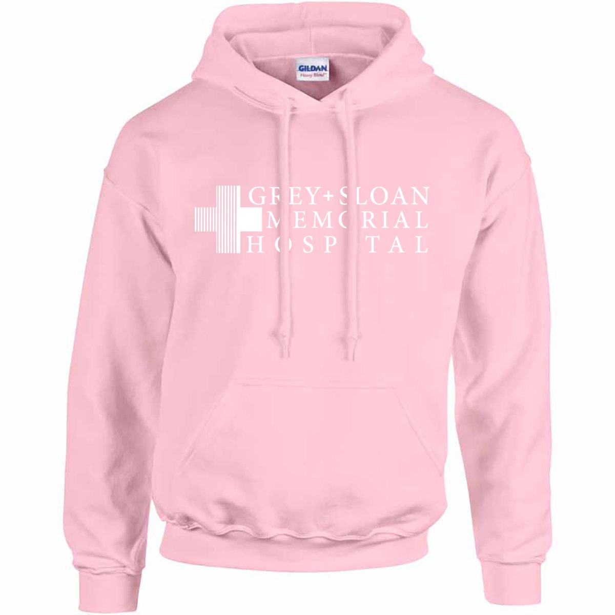 NuffSaid Grey Sloan Memorial Hospital Hooded Sweatshirt Sweater Hoodie Pullover - Premium Quality (Small, Light Pink)