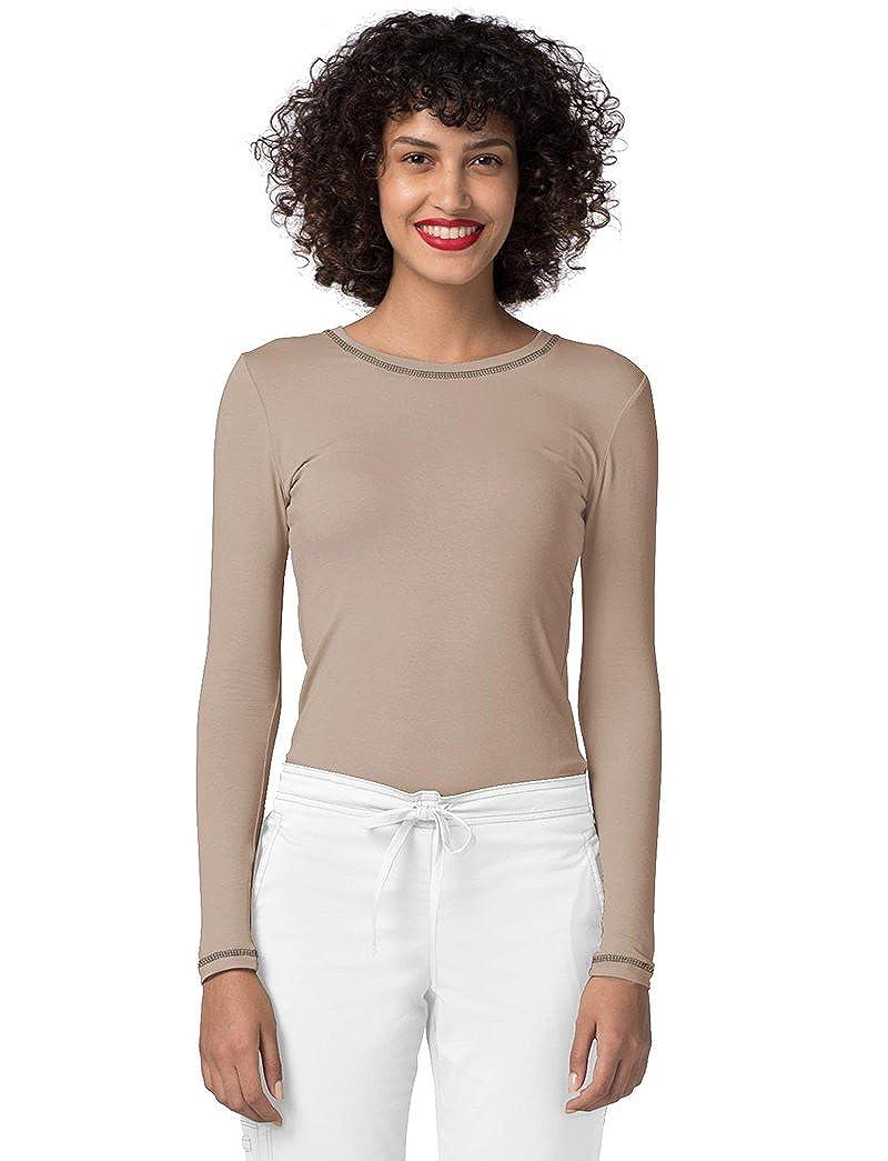 03c9d931886 ADAR UNIFORMS Medical Uniforms Women's Pop-Stretch Long Sleeve Fitted T- Shirt Scrub Tee: Amazon.co.uk: Clothing