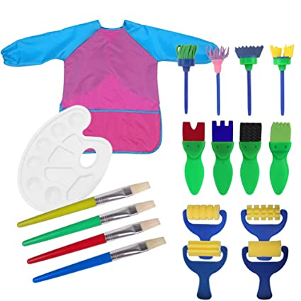 Household Cleaning Protections 1 Set Waterproof Kids Painting Apron Painting Brushes Long Sleeve Tools Art Smock For Kids Children Early Learning Diy Art Craft Online Shop