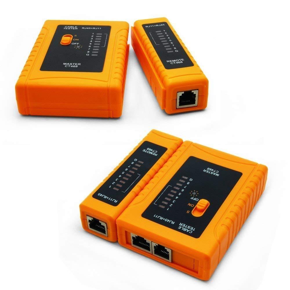 iMBAPrice - RJ45 Network Cable Tester for Lan Phone RJ45/RJ11/RJ12/CAT5/CAT6/CAT7 UTP Wire Test Tool: Home Improvement