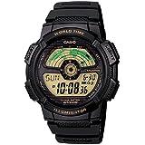 e9811daebb0 Relógio Casio Illuminator Ae1100w-1bvdf Hora Mundial + Calendário e Alarme