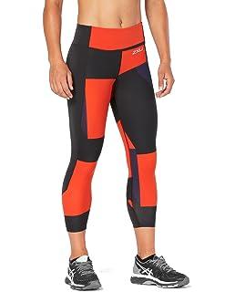 253e12078a Amazon.com : 2XU Fitness Mid Rise Colour Block Womens 7/8 ...