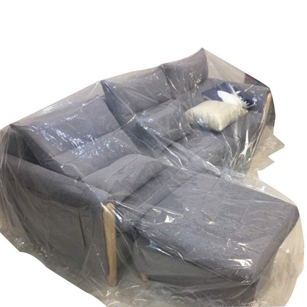 Liul Plane Möbel-Staubtuch Dünner Kunststoff Haupterneuerung Tourism Sofa Protection Reinigungsschutzfolie,Transparent,Mehrere Größen,5X5M