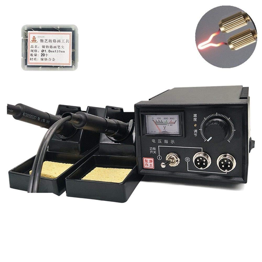 Pyrography Machine 110V 60W Portable Multi-Function Wood Pyrography Crafts Kit Wood Burning Tool Set (Model-A)