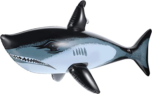 meekoo 3 Pieces Inflatable Shark Inflatable Ocean Animal Pool Toys for Beach and Party Decorations, 31.5 Inches
