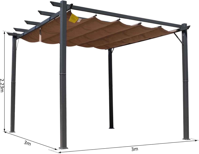 Outsunny - Toldo de Aluminio para pérgola (300 x 300 cm): Amazon.es: Jardín