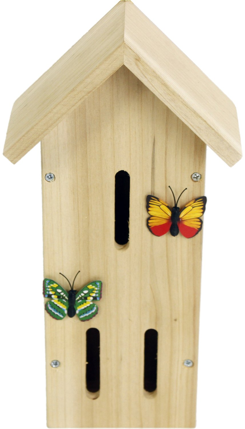 Wooden Insect Bee Butterfly House ~ Butterfly Nesting Box For Garden Carousel Home