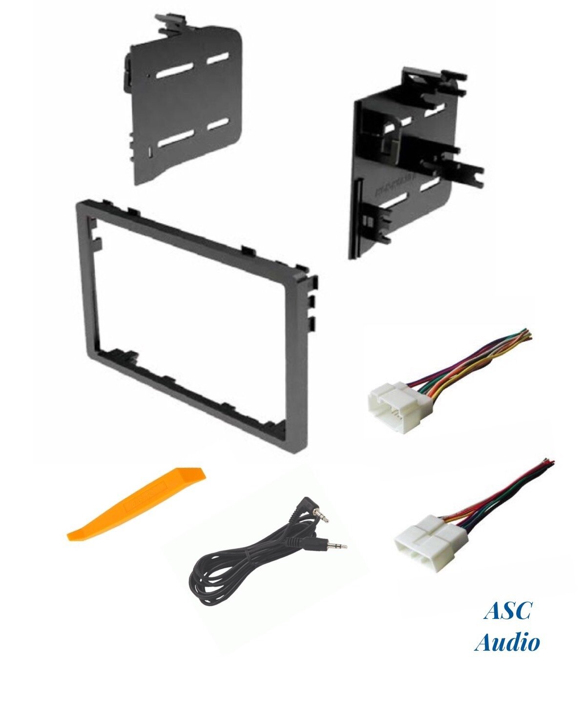 ASC Audio Car Stereo Dash Install Kit and Wire Harness for Installing an Aftermarket Double Din Radio for Select Acura Honda Vehicles - Compatible Vehicles Listed Below by ASC Audio