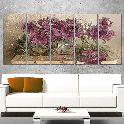 Bouquet of Pink Peonies wall decor - Floral Canvas Art Print home decor