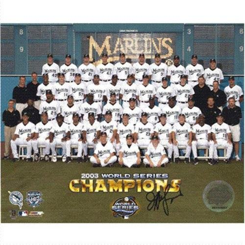 Jeffrey Lauria (Owner) Autographed Florida Marlins Team 8x10 Photo ()