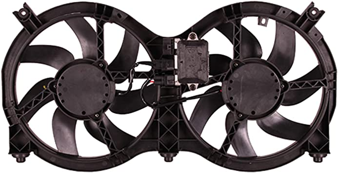 Amazon Com Oe Replacement Dual Radiator And Condenser Fan Assembly Nissan Pathfinder 2014 2017 Partslink Ni3115149 Automotive