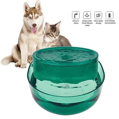 Petacc Fuente de Agua Automática para Mascotas Fuente de Agua para Gatos Ultra Silenciosa Dispensador de