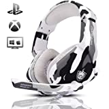 Gaming Headset for PS4, Xbox One, PC, Laptop, Mac, Nintendo Switch, PHOINIKAS 3.5MM PS4 Headset with Mic, Over Ear…