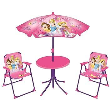 Fun House 712348 DISNEY PRINCESSES Salon De Jardin Pour Enfant Avec 1 Table 2 Chaises