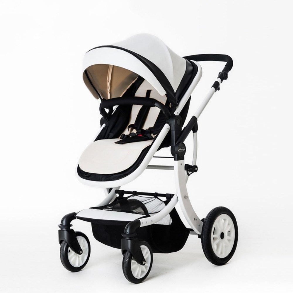 XINYU Cochecito De Bebé Alto Paisaje Puede Sentarse Bebé Reclinable Plegable Bicicleta Niños Recién Nacidos 0-3 Bb Carro De Bebé,White: Amazon.es: Hogar