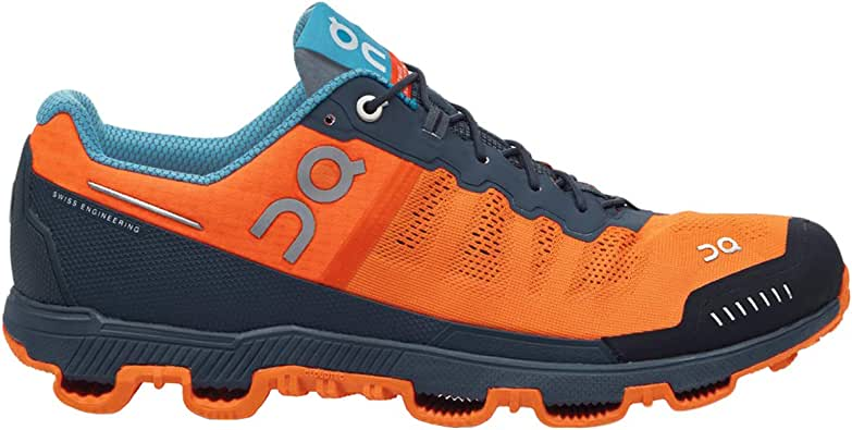 On Cloudventure Mens Trail Running Shoes- Flame/Shadow [Size:US 8.5]