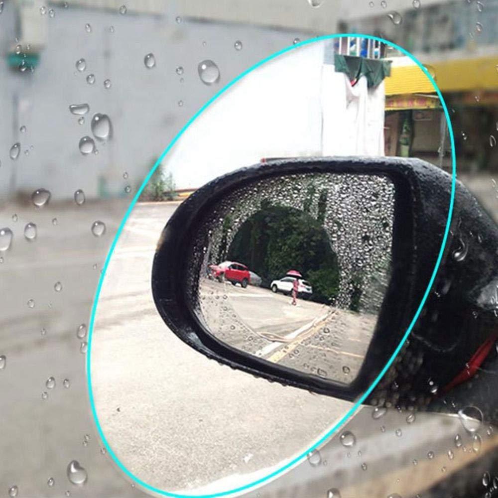 TOOGOO 2pcs Motorcycle Car Side Rear View Mirror Protective Film Anti Fog Rainproof Rear View Mirror Window Clear Waterproof Membrane by TOOGOO (Image #3)