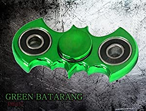 Zip Spinners- Batman Fidget Spinner Toy Ultra Speed Premium Bearings Guarantee 2 to 5 mins Spinning- Best Stress Reducer Finger Toys Hand Spinner for Kids & Adults (Green Batarang) at Gotham City Store
