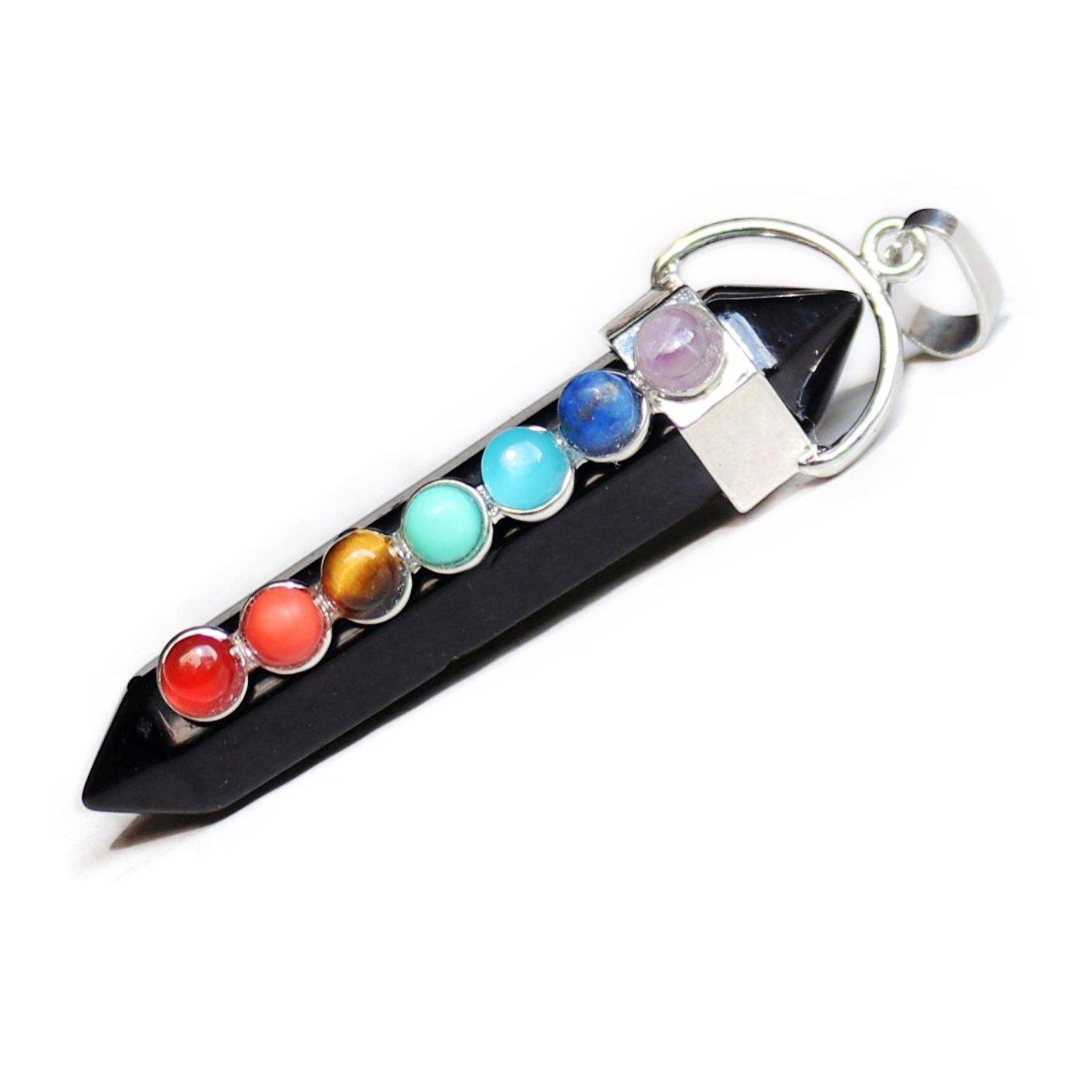 Aituo magn/ífico cristal de cuarzo piedras de curaci/ón Point chakra Cut Gemstone Natural colgantes de piedra para collar joyer/ía Making