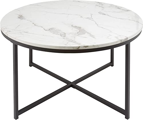 CO-Z 36″ Modern Round Coffee Table