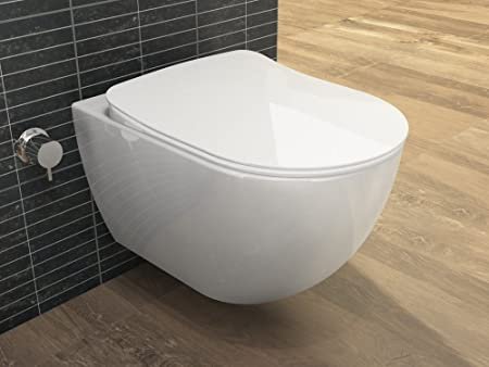 Taharet design flushing rim, ceramic toilet with bidet function ...