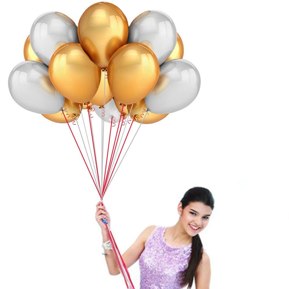 10 inch Gold and silver balloons-72 count-Wedding/Birthday Party Decor