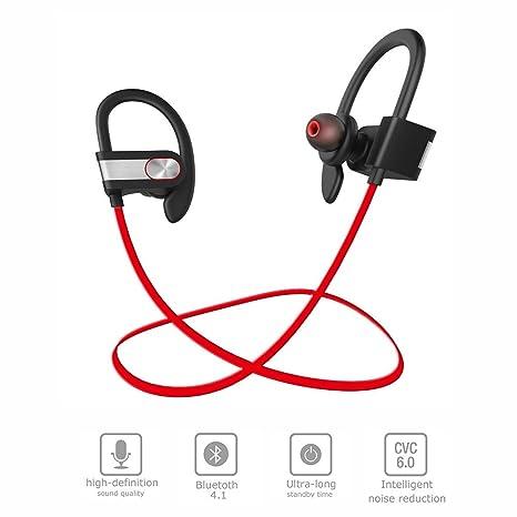 Iyowin Auriculares Bluetooth Estéreo Inalámbricos 4.1 para Correr, Deportivos de Manos Libre Resistentes al Sudor