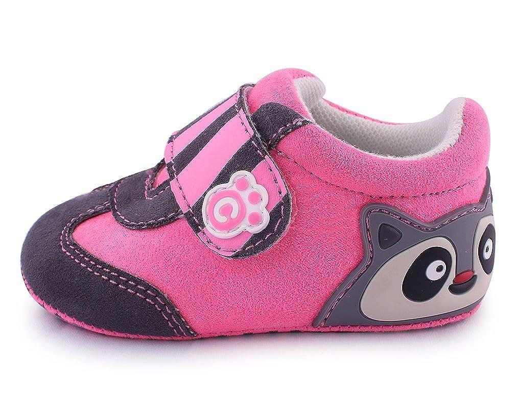 Cartoonimals Chaussures Bébé Enfant Chaussons Infantile Racoon EU 17 = 0-6 Months = Insole Length 115 mm; EU 18 = 6-12 Months = Insole Length 121 mm; EU 19 = 12-16 Months = Insole Length 127 mm