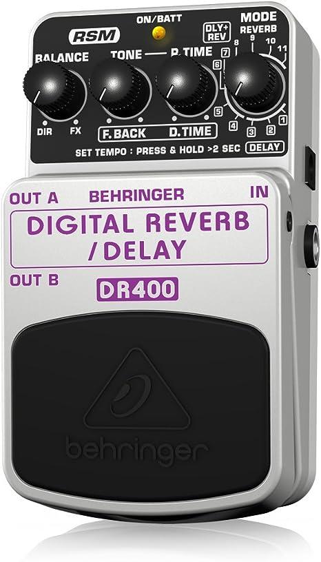 Behringer DR400 4033653052801 - Pedal de efecto eco/delay/reverb ...