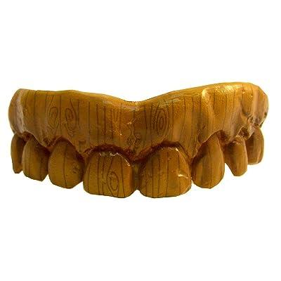 Billy Bob Fake Halloween Teeth - Wooden: Clothing