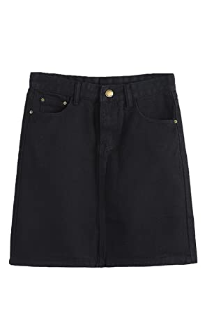 af6db87b2 yulinge Women Jeans High Waist Bodycon A Line Denim Skirt: Amazon.co.uk:  Clothing