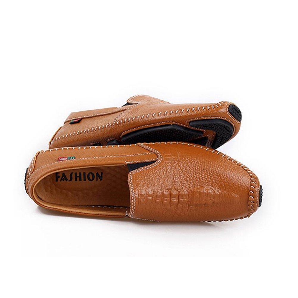 Onfly New Männer Schuhe Leder 2018 neue Fahr Schuhe Mode Business Casual Männer Schuhe Leder Fahr Schuhe faule Schuhe eu Größe (Farbe   Braun, Farbe   42)