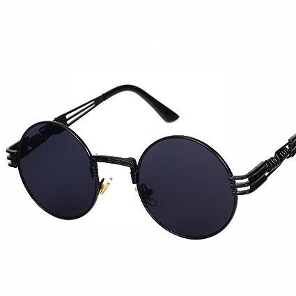 LMB Gafas de Sol Steampunk Personalizadas Marco Redondo Moda ...