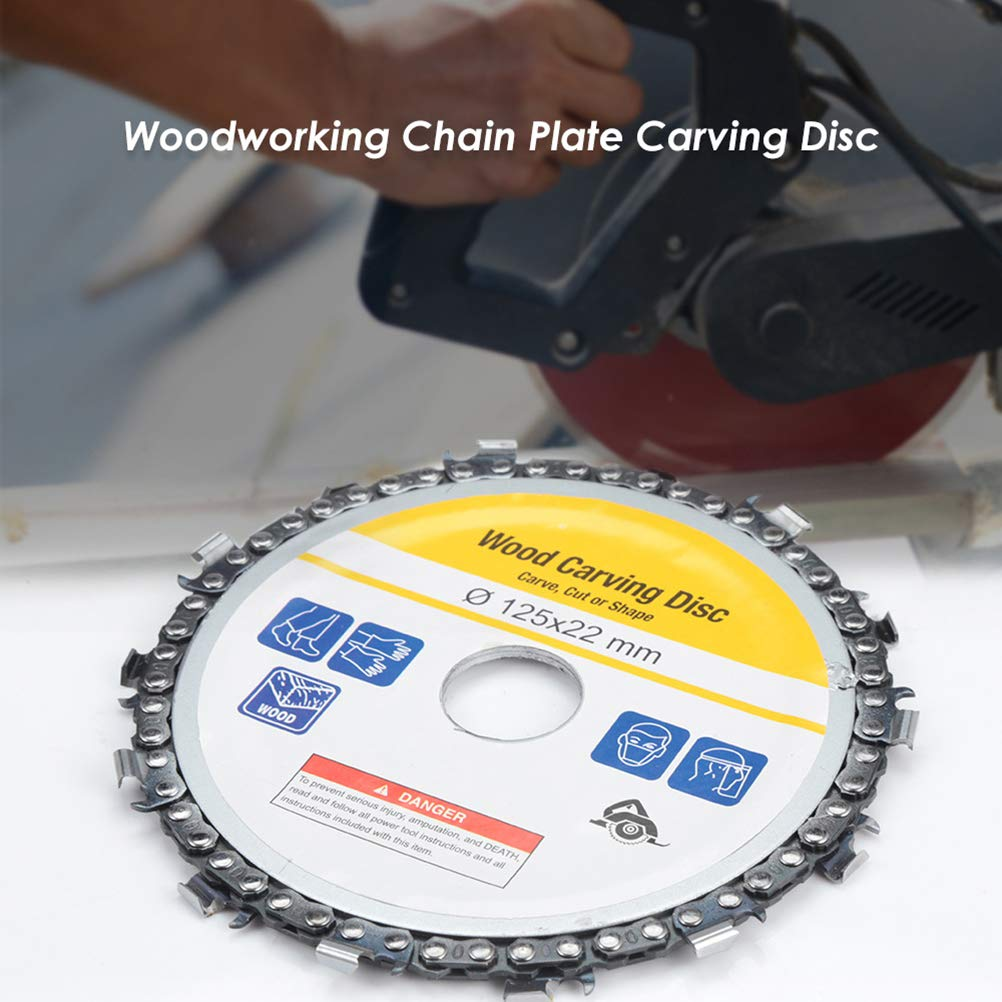 CHENLIGHT 5 inch 125mm grinder chain disc 22mm arbor wood carving disc for angle grinder