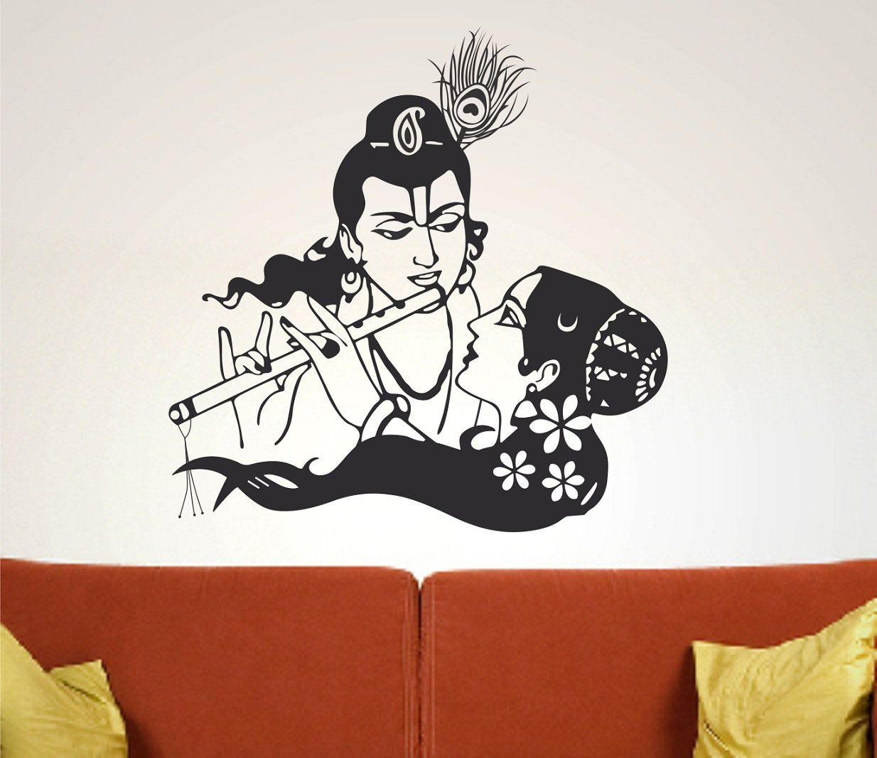 Wall stickers radha krishna - Buy Asmi Collections Wall Stickers Beautiful God Radha Krishna Online At Low Prices In India Amazon In