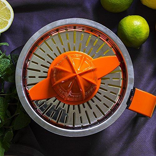 Mastercheff Gallery Cook Exprimidor eléctrico para naranjas y cítricos de 40 W. Filtro de acero inoxidable. Doble sentido de giro, doble cono y cubierta ...