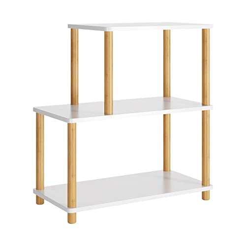 HOMECHO Modern 3-Tier Side End Table Bedside Sofa Chair Side Tables Night Stand Storage Display Shelf