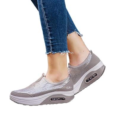 Damen Frauen Freizeitschuhe Schuhe Sneaker Luftkissen thxdsQrC