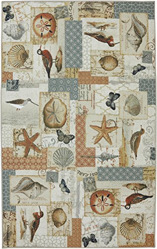 Mohawk Home Escape Atlantic Beach Multi Rug, 7'6x10'- Family Room Ideas - Make quick & easy changes to any room in your home in minutes by changing the rug - add color & patterns