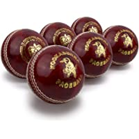 Kookaburra Bolas de críquet Unisex, 155 g (Caja de 6), Rojo, para Hombre