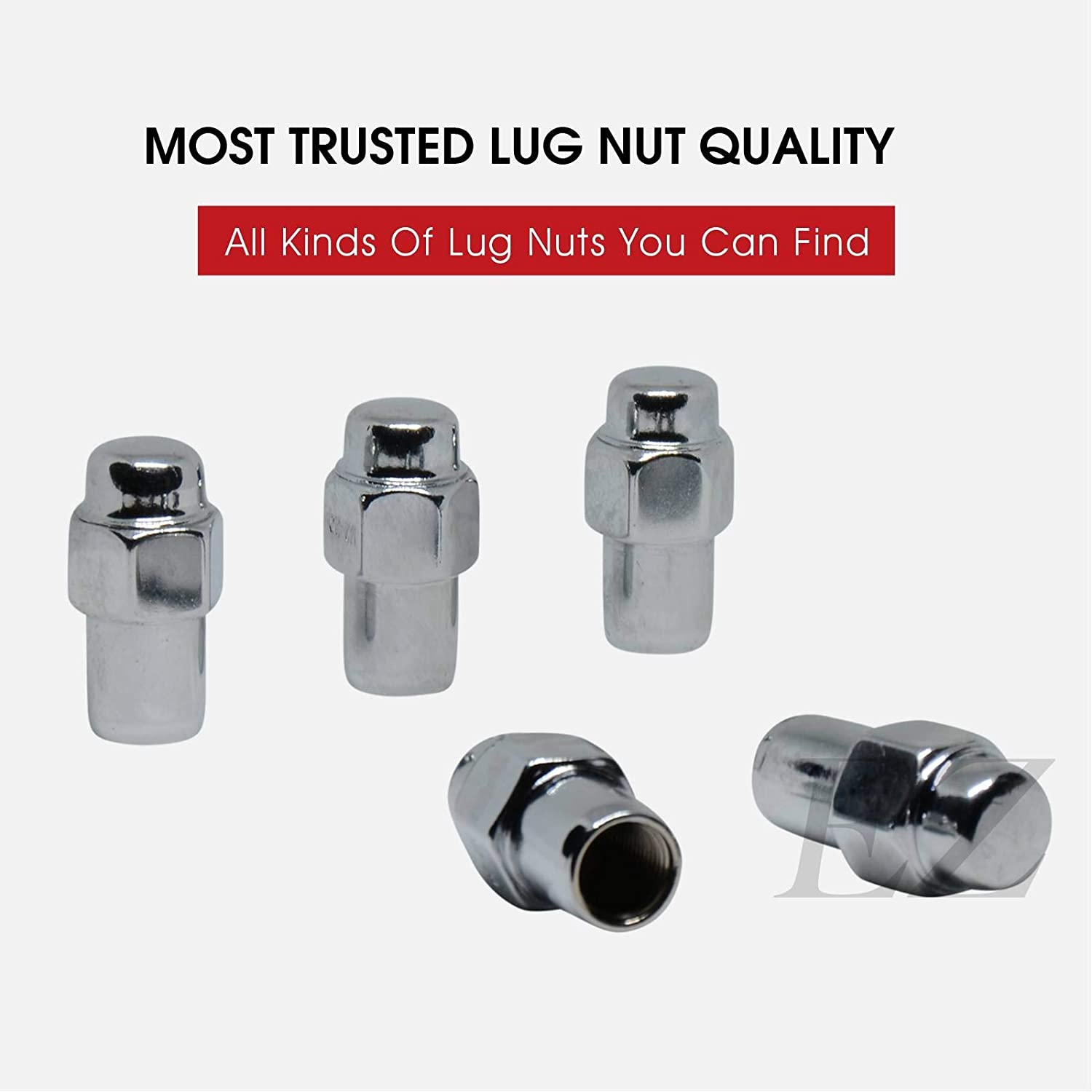 Short Mag Style Lug Nut 7//16 with Standard Washer Set of 20 Pieces