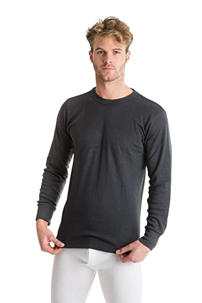 26f61778faf Amazon.com: Octave Mens Thermal Underwear Long Sleeve Top (British Made  Viscose Extra Warm): Clothing