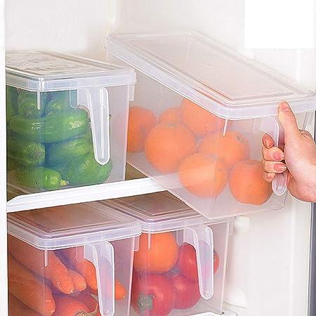 Caja de almacenamiento para refrigerador, organizador transparente ...