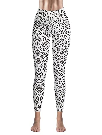 0086b5161a36b Image Unavailable. Image not available for. Color: Women Stretch High Waist Yoga  Pants Running Tights Animal Leopard Print ...